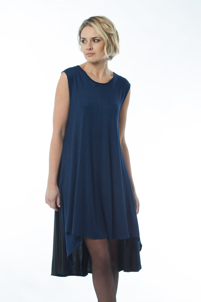 ANNI - Dress Blue/black