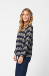 BARBARA Top in Navy Print