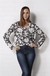 BETTINA Top - Grey Print