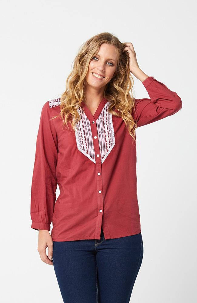 BIRGITTA Top - Dark Red