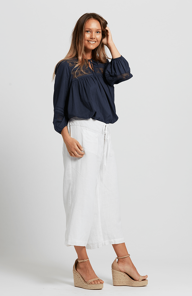 BONNY culottes - Lined - White