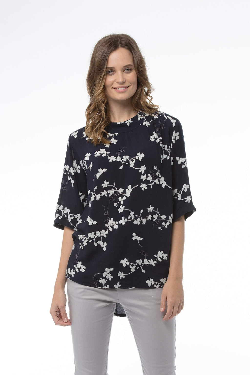 cathryn-top-navy-print