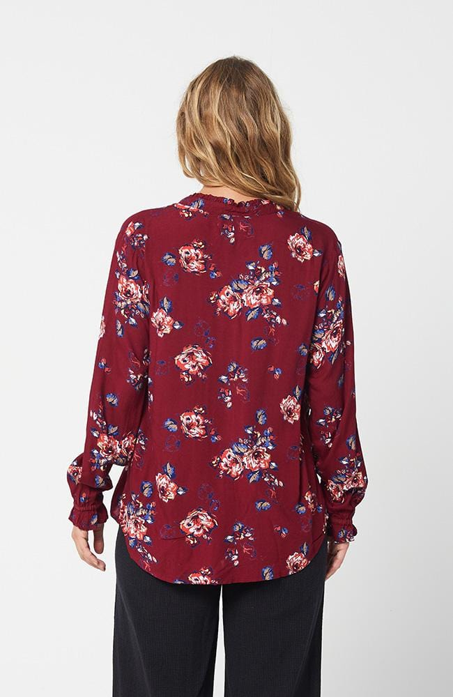 CHELSEA Top - Red Print