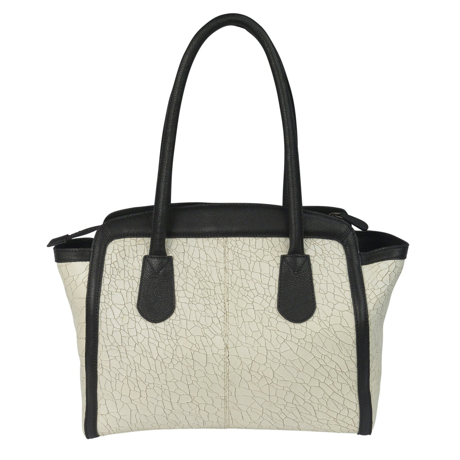 CHRISTINE - Leather Bag in Black & White