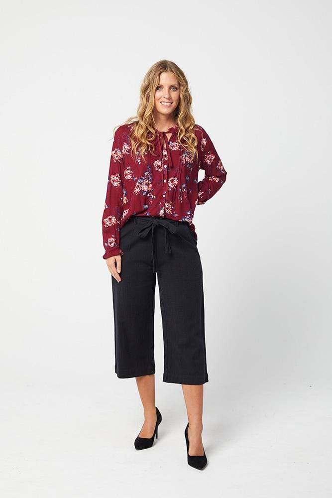 HAILEY Culotte Pants -Dark Navy
