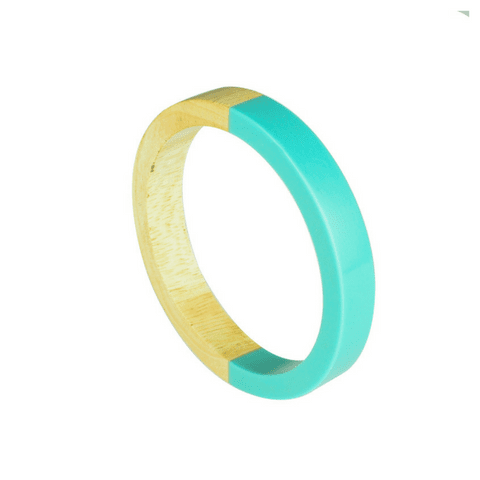 Ebba Wood Bracelet - White or Aqua