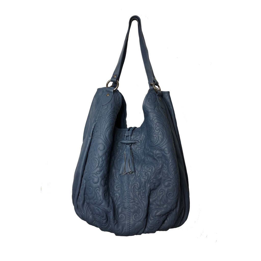 EMILY Leather Bag - Navy
