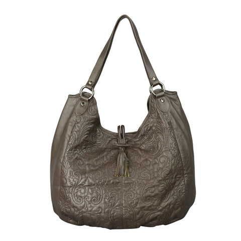 EMILY - Leather Bag in Dark brown