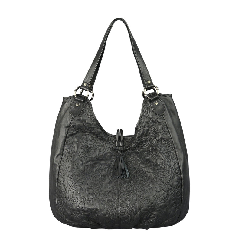 EMILY - Leather Bag in black