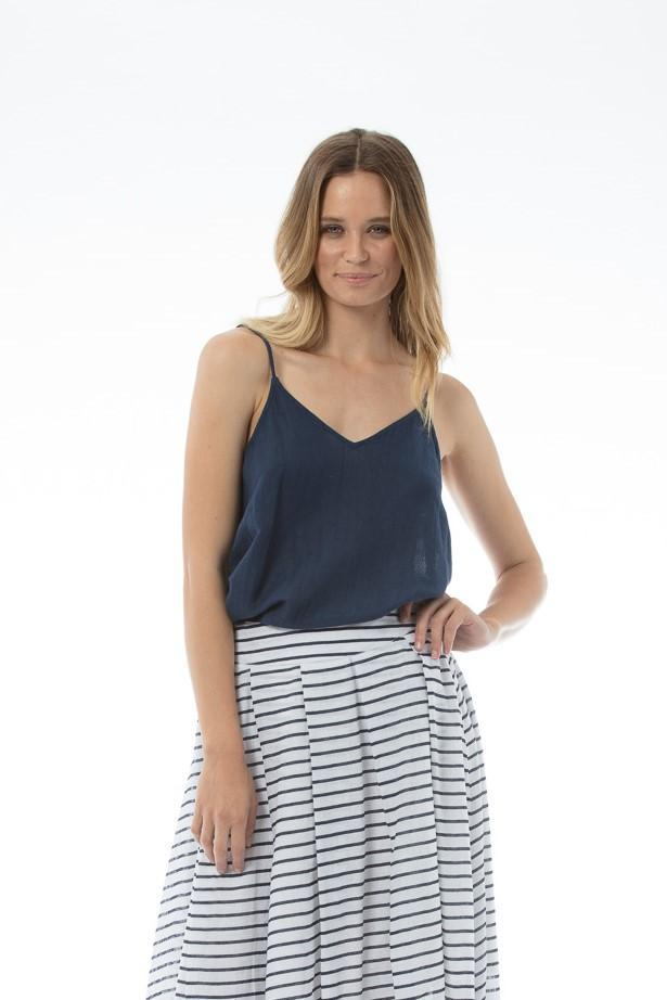 EVI Top - Navy