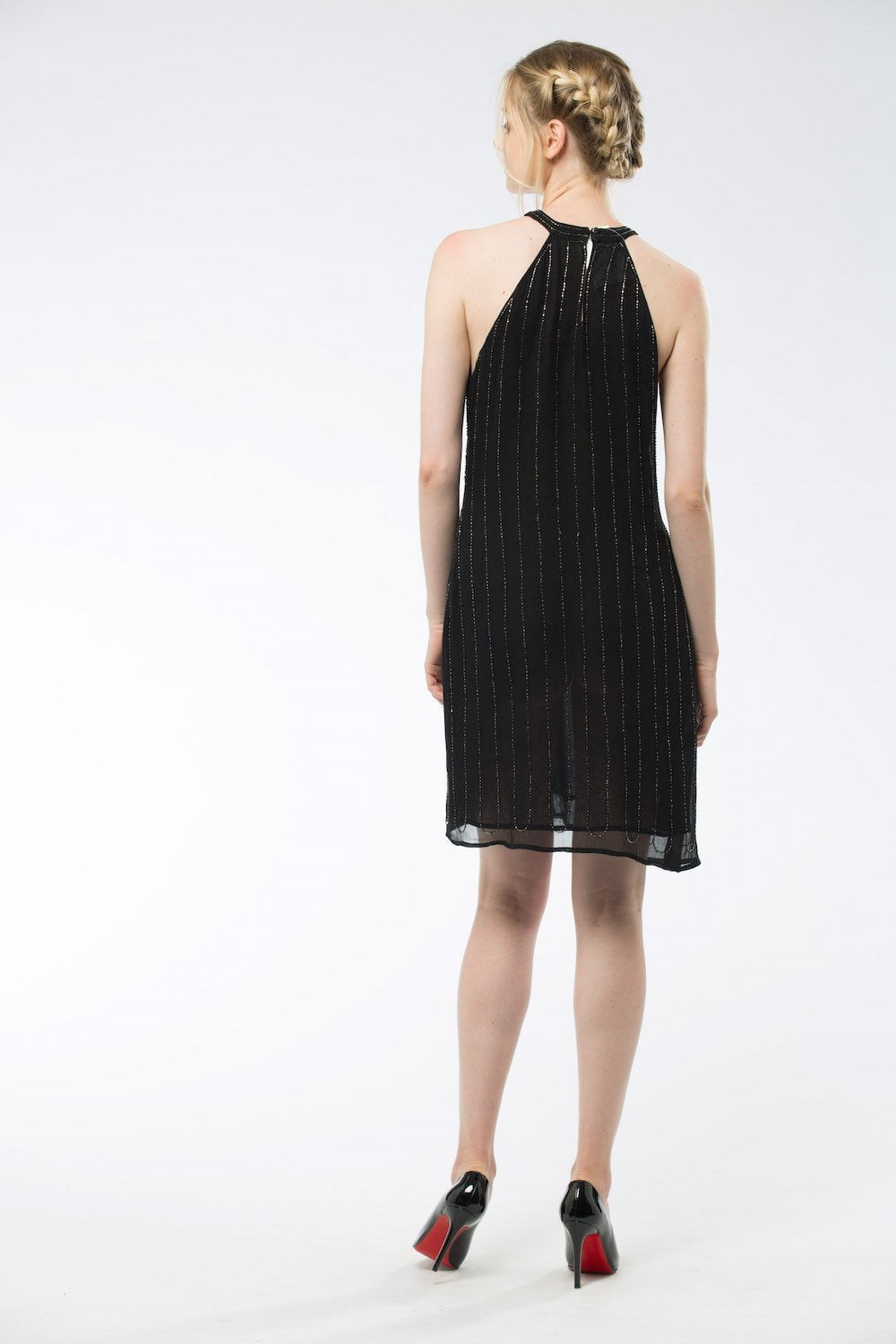 AMIRA- Dress Black with sequins