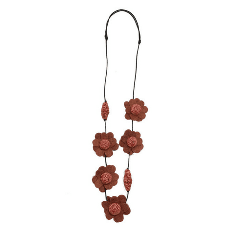 FIONA Necklace - Terracotta
