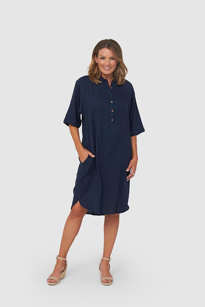 FREYA Dress | Navy