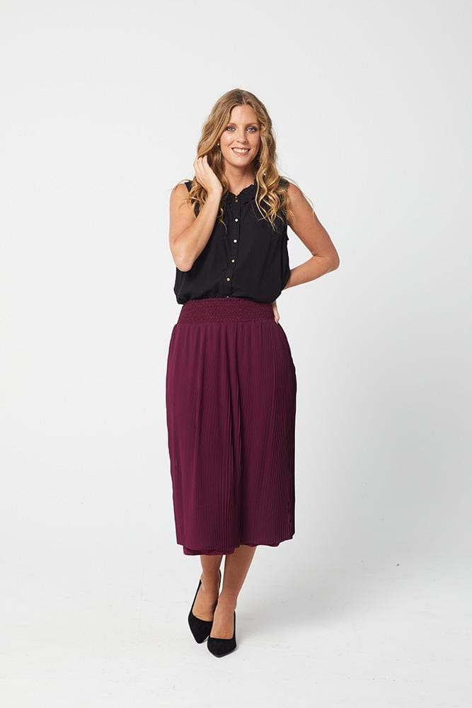 GENEVA Skirt - Wine