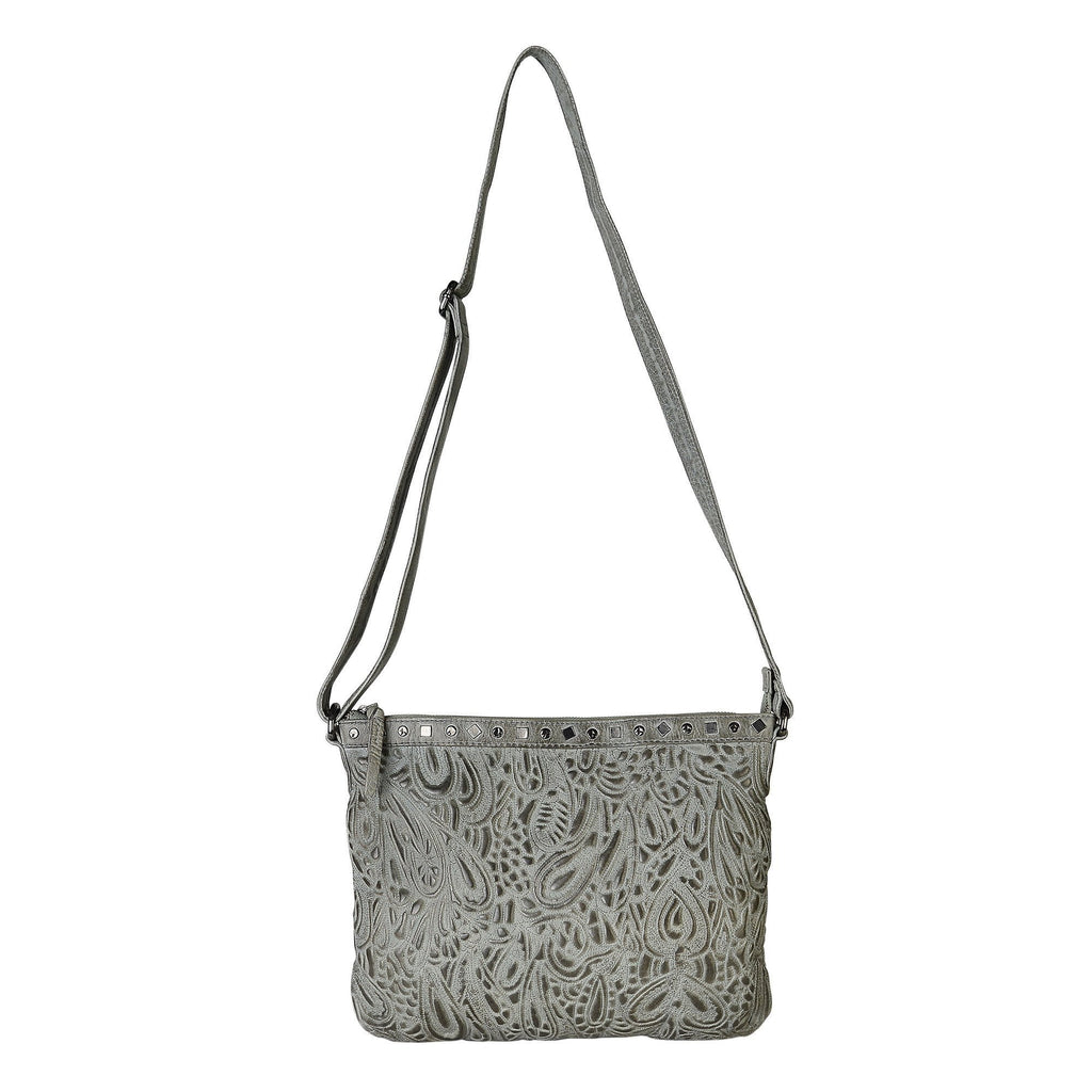 HARPER - Leather Bag in Grey