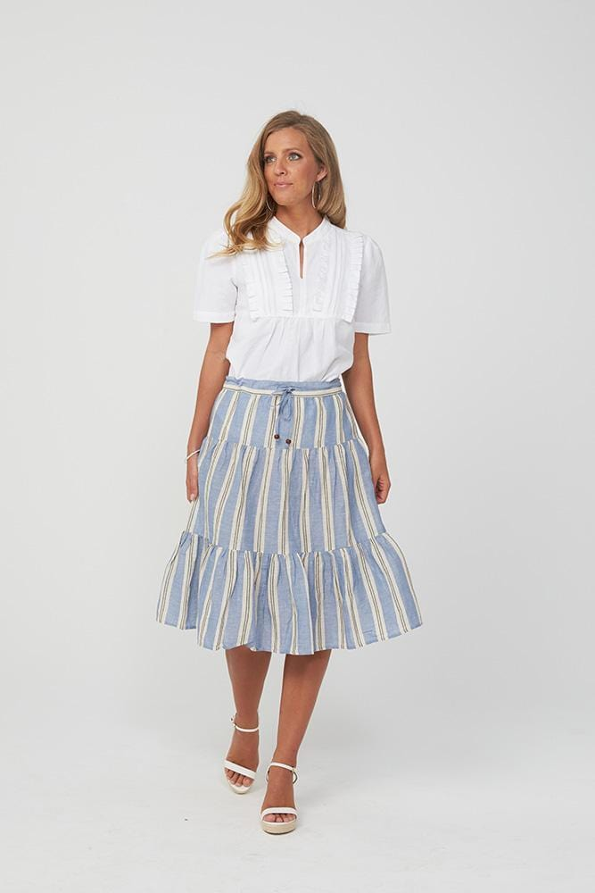 HAVANNA Skirt | Blue Stripe