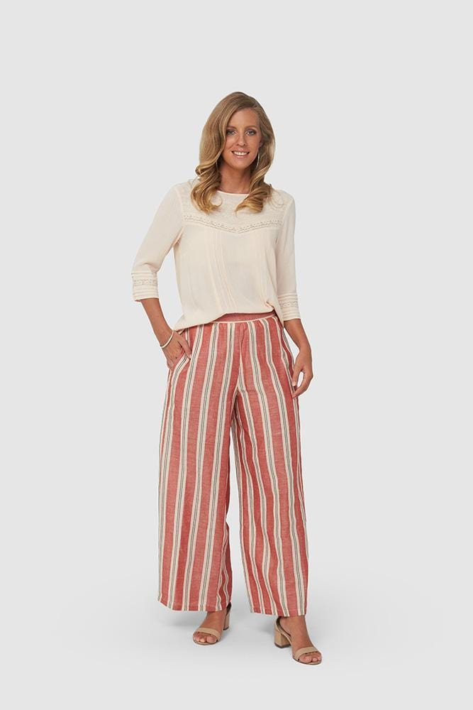 KLARA Pants | Red Stripe