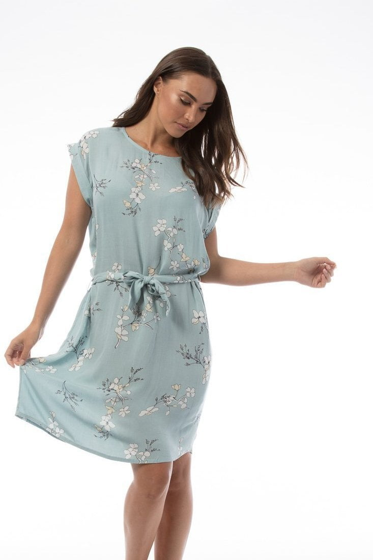 LEONIE Dress - Blue floral