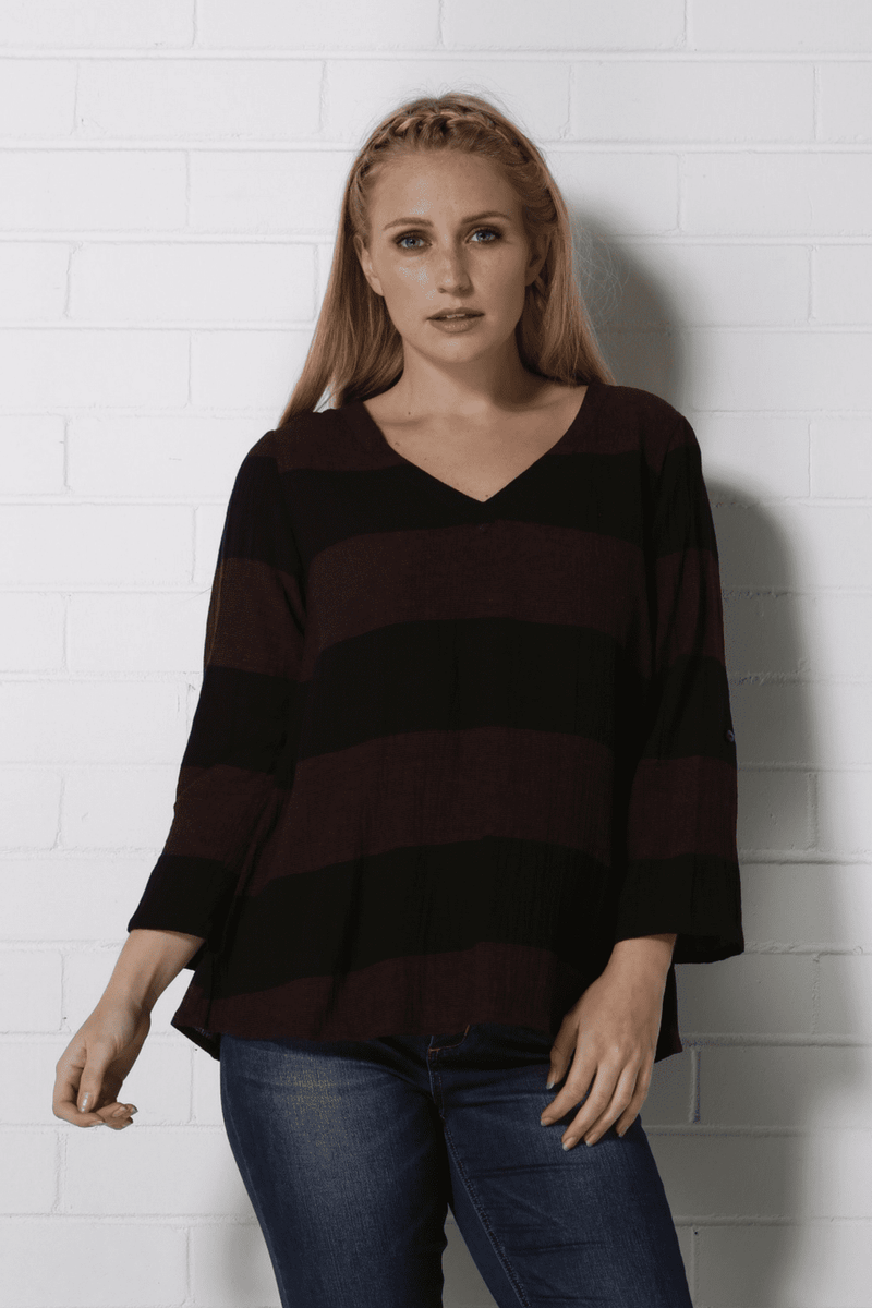 LEXIE Top - Black/Red
