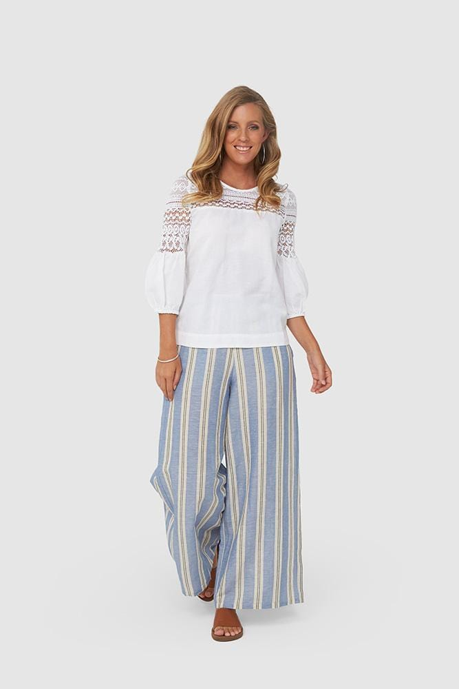 KLARA Pants | Blue Stripe