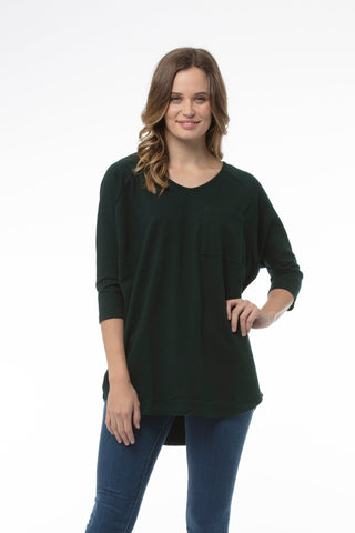 NOELE Top - Bottle Green