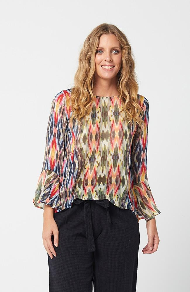 MEGAN Top in Scarf Print