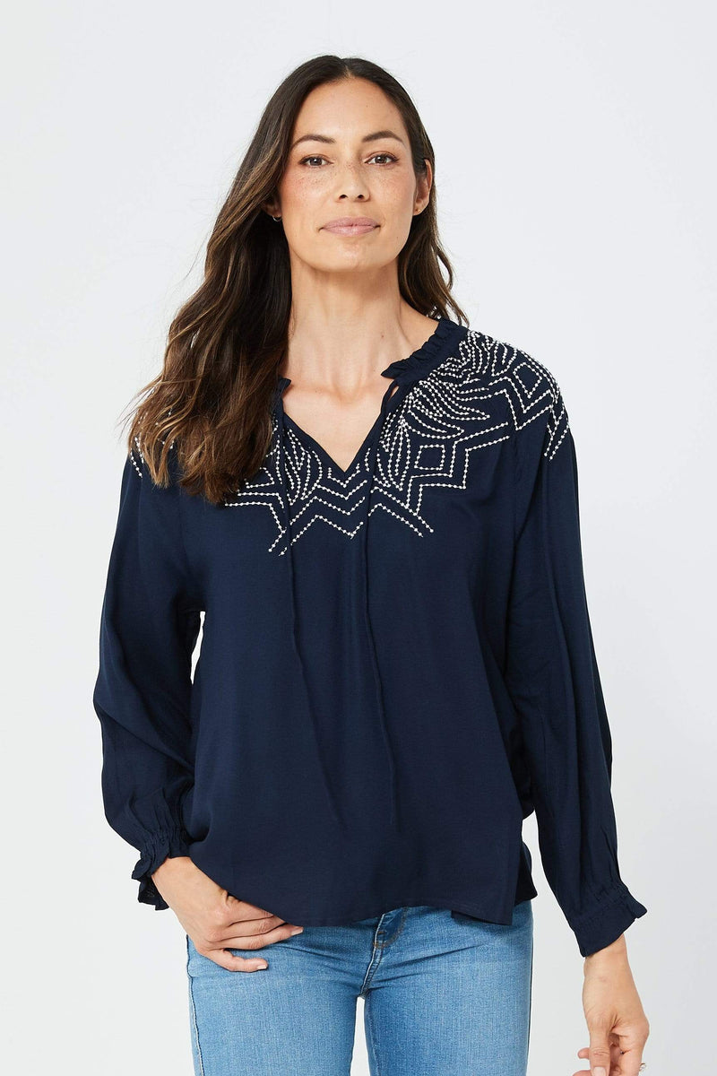 Melinda Top | Navy