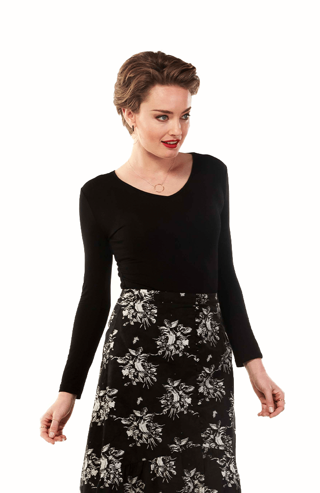 MICHELLE Top -Black