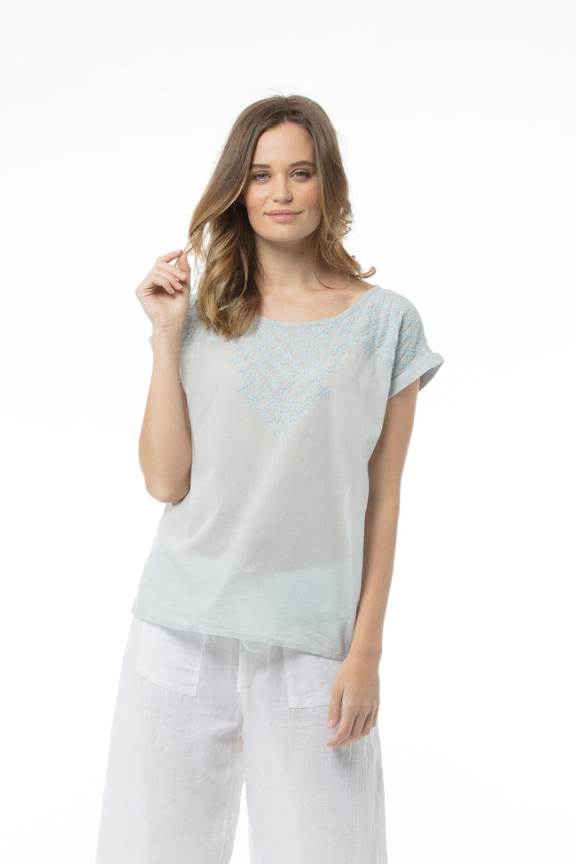 MINNA Top - Washed Blue