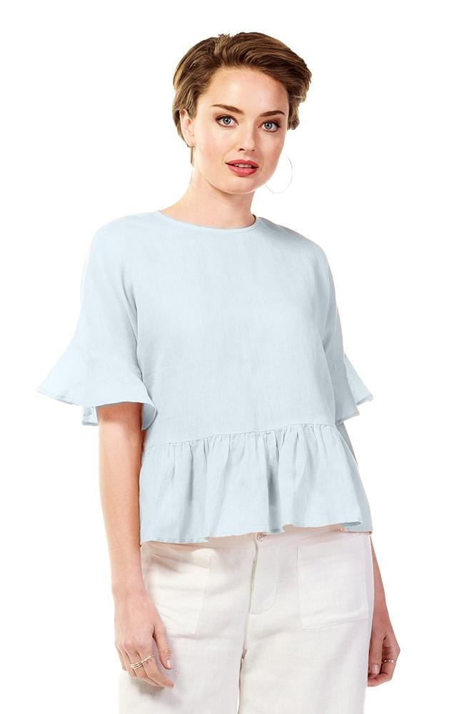 MONA Top - Light Blue
