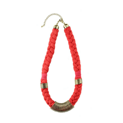 Nellie Necklace in Blue, Red and Mint Green