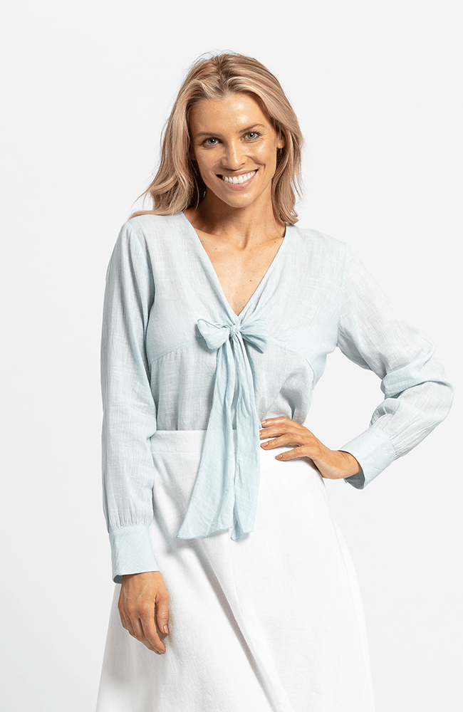 NICOLETTE Top - Light Blue