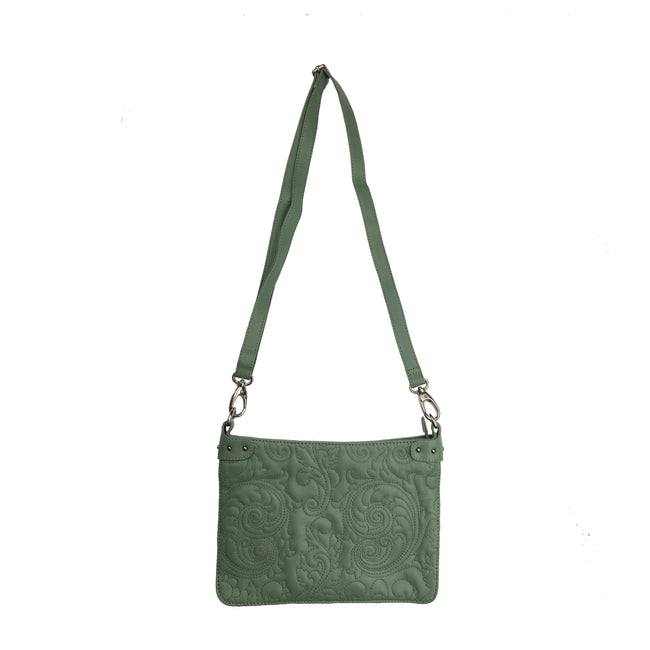 PATRICIA Leather bag - Dark Green