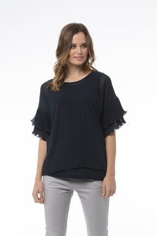 FRANCESCA Top - Washed Blue