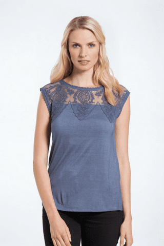 Pia top ash blue