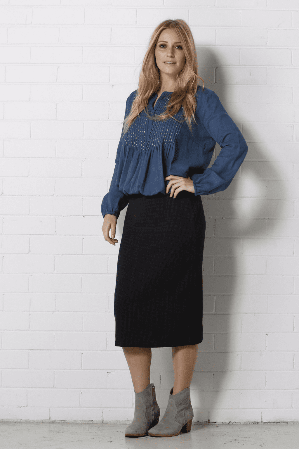 REGINA Skirt - Blue/Black
