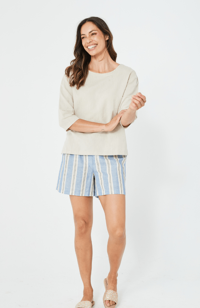 RITA Shorts | Blue Stripe