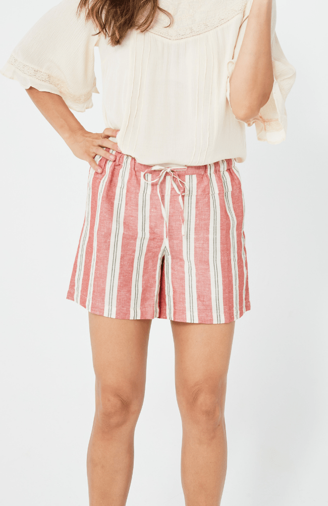 RITA Shorts | Red Stripe