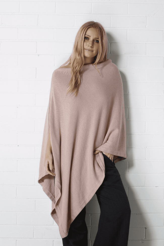 ROSETTE Poncho - Pink