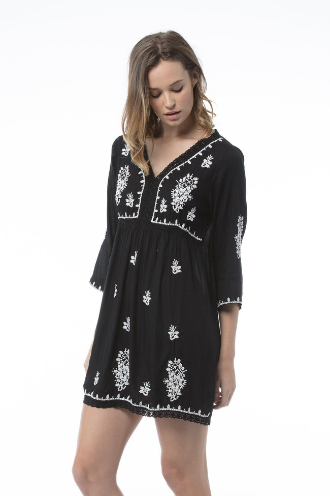 SAMANTHA Tunic Dress - Black
