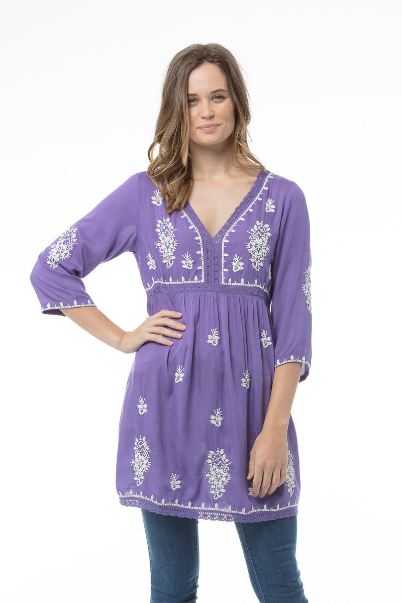 SAMANTHA Tunic Dress - Violet