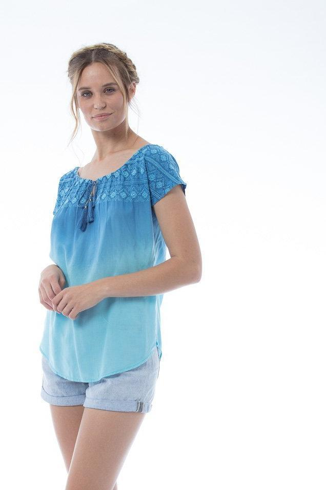 SASHA Top - Blue/Aqua