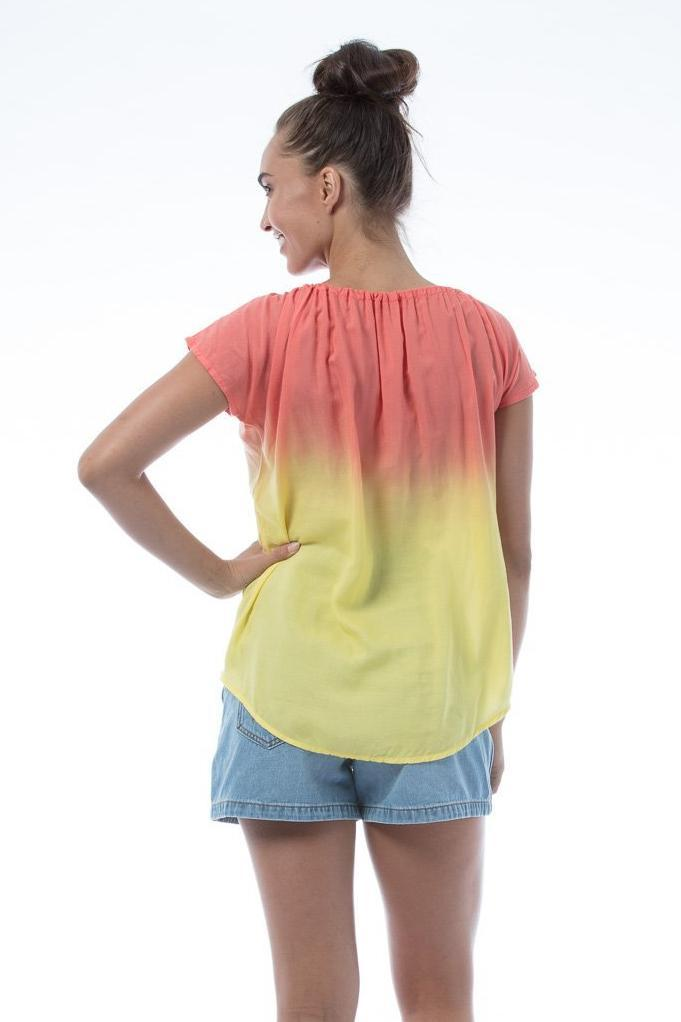 SASHA Top - Red/Yellow
