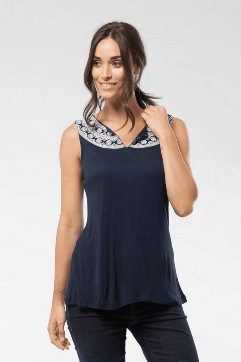 Olivia - Top in Midnight Blue Midnight