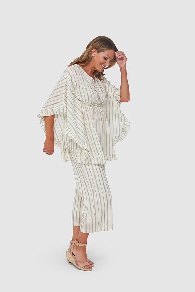 STACEY Tunic - Gold Stripe