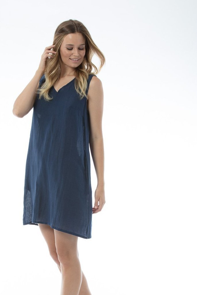 STEPH Dress - Navy