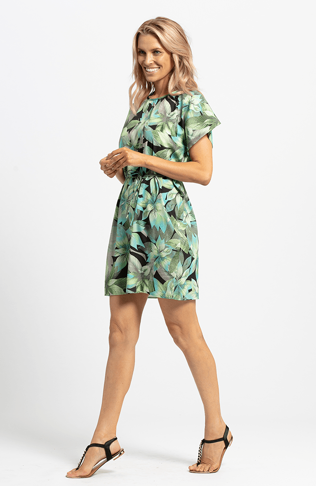 SUNNY Dress - Green Print