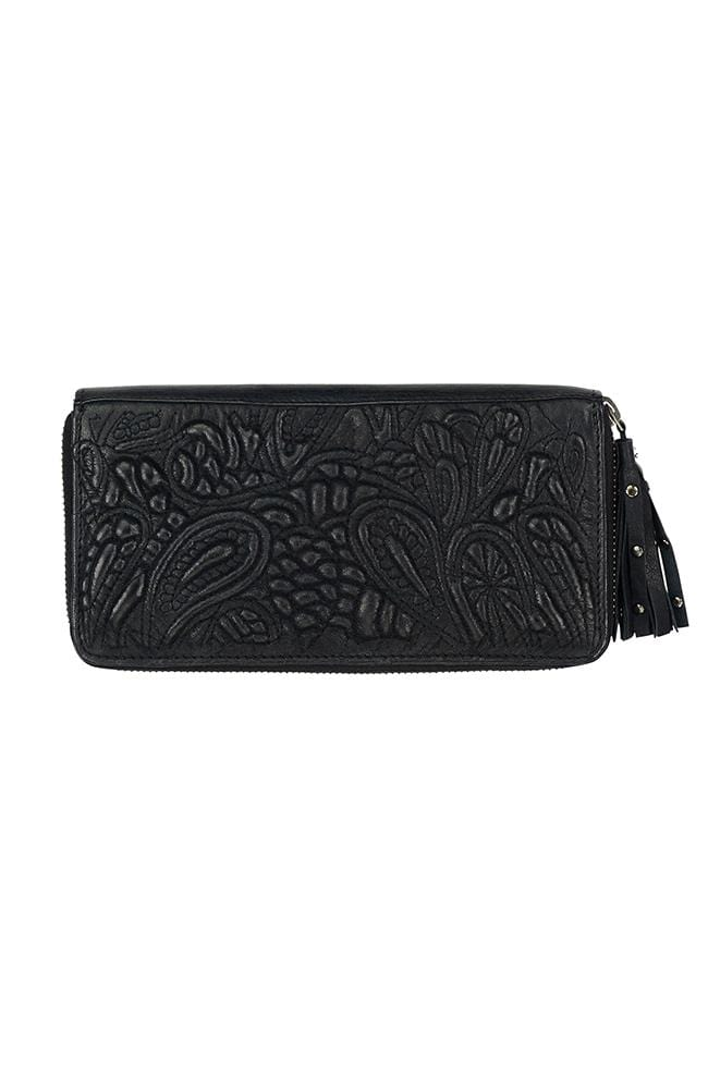 TAYLOR - Leather Clutch Black