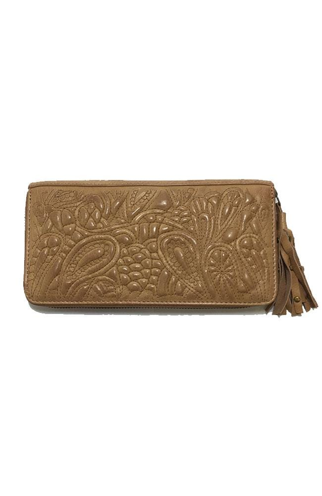 TAYLOR - Leather Clutch - Cognac