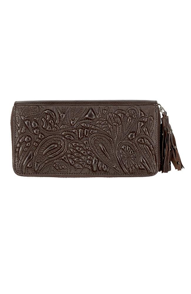 TAYLOR - Leather Clutch Dark Brown